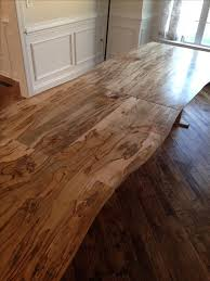 made solid ambrosia maple slab extending dining table by