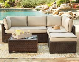 Patio Coffee Table Set by Signature Design By Ashley Loughran Outdoor Sectional Set With