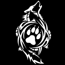 2018 8 4 15 2cm tribal wolf paw print decals stickers car