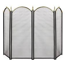 Contemporary Fireplace Doors by Wrought Iron Modern Fireplace Screens U0026 Doors Ebay