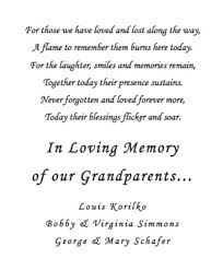 wedding memorial wording wedding remembrance poems