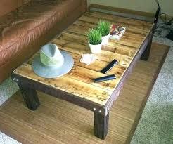 Coffee Table Ottoman Combination Diy Wood Pallet Coffee Table Pallet Coffee Table Plans Coffee
