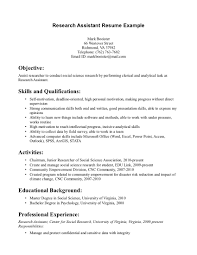 Cover Letter Research Associate Sle research assistant resume sle for study scientist exle