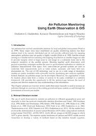 air pollution monitoring using earth observation u0026 gis pdf