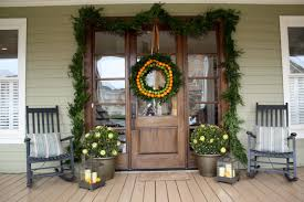 decor awesome contemporary porch with fruit wreath on
