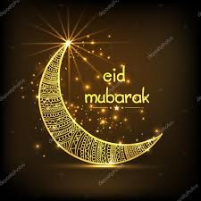Eid Invitation Card Eid Mubarak Celebration With Creative Crescent Moon U2014 Stock