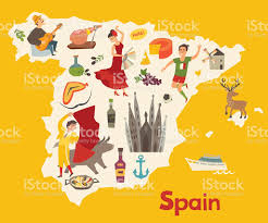 spain map vector illustrated map for children stock vector art