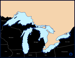 Map Of The United States Great Lakes by Studies Of Fish Tissue Contamination Advisories And Technical