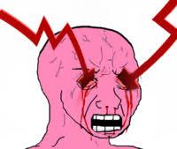 Bleeding Eyes Meme - pink wojak image gallery know your meme
