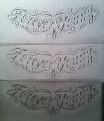 forever young chest tattoo design sketch by calebslabzzzgraham on