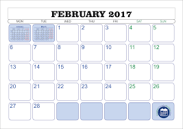 fillable 2017 calendar