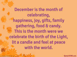 december is the month of celebrating quotes4sms