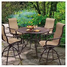 Barcelona Outdoor Furniture by Barcelona 5 Pc Patio High Dining Set Table 4 Swivel Rockers