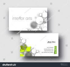 Modern Interior Design Business Cards Modern Business Card Vector Template Stock Vector 261663161