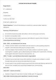 customer service resume templates free resume template and