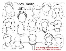 how to draw doodle faces 217 best faces set images on