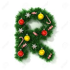 christmas font letter r stock photo picture and royalty free