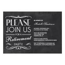 vintage chalkboard retirement party card zazzle
