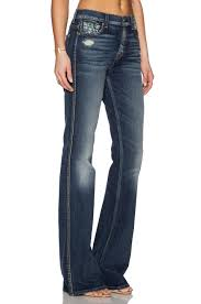 High Waist Bootcut Jeans 7 For All Mankind Bootcut High Waisted Stretch Denim Jeans In Blue