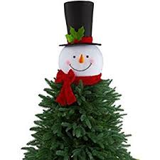 snowman christmas tree 18 in snowman with hat christmas tree topper