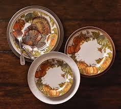 heritage pumpkin dinner plate set of 4 pottery barn
