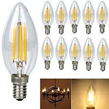 edison light bulb l 10 pack 4 watt e14 filament led bulbs 480lm 40w equivalent c35