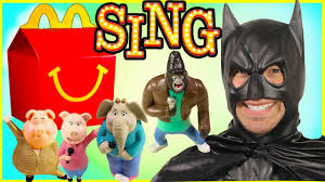 mcdonalds costumes for halloween 2016 mcdonalds sing movie happy meal toys for kids batman toy