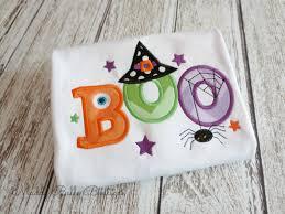Halloween Baby Shirts by Cute Halloween Boo Embroidered Shirt Children U0027s Shirt