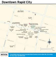 South Dakota Map With Cities Printable Travel Maps Of South Dakota Moon Travel Guides