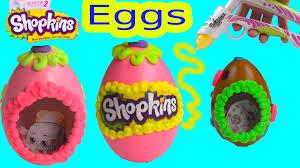 sugar easter eggs with inside shopkins sugar easter egg inspired playdoh frosting dohvinci diy