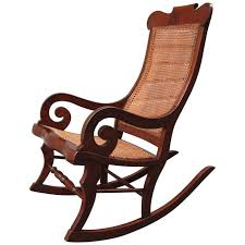 Cane Rocking Chair 19th Century St Croix Regency Mahogany And Cane Rocking Chair C