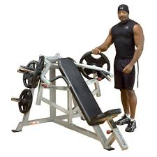 Professional Weight Bench Body Solid Pro Leverage Incline Bench Chest Press Plate Loaded