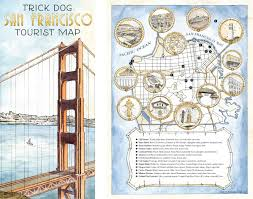 Tourist Map Of San Francisco by Ridiculous Bar Menus Inspired By Trick Dog U0027s New Menu Design U2014 The