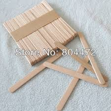 100x craft stick 11cm wooden popsicle stick to