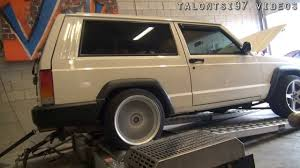 jeep cherokee power wheels 200hp supercharged jeep xj cherokee dyno youtube