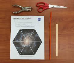 make a pinwheel galaxy pinwheel nasa space place