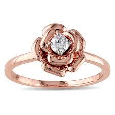 rose promise rings images Miadora 10k rose gold 1 6ct tdw diamond flower promise ring free jpg