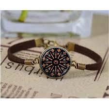 glass bracelet images Church stained glass bracelet mandala jewelry notre dame de paris jpg