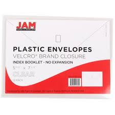 amazon com jam paper plastic envelopes with hook and loop