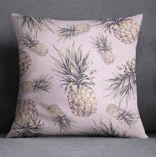 tropical pink pineapple bedding ink and rags