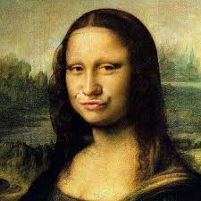 mona lisa facebook profile picture