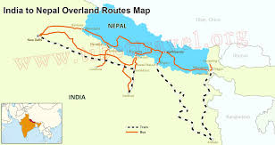 Southwest Route Map by Map Of India And Nepal Nepal India Border Map India Tourist Map