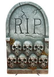 rip tombstone with skulls rip tombstone halloween tombstones