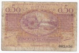 chambre de commerce de la rochelle 17 la rochelle chambre de commerce 50 centimes 1920 beau