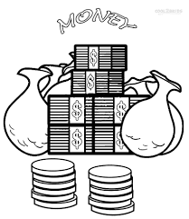 money coloring pages coloring pages online