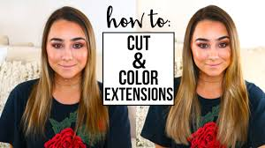 cut before dye hair how to cut color hair extensions youtube