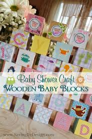 thanksgiving crafts for infants wooden building blocks baby shower craft a perfect keepsake for