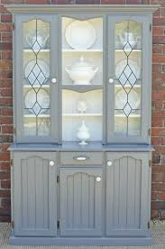 french provincial hamptons country buffet and hutch sideboard grey