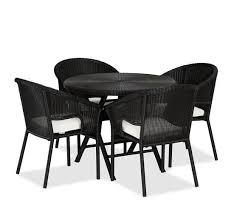 pottery barn bistro table palmetto all weather wicker folding round bistro table black