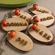 rustic name placecard holders for fall and thanksgiving cathie